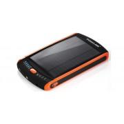 Внешний аккумулятор (Power Bank) с солнечной панелью для зарядки смартфона, планшета, ноутбука, комплект переходников Mobile Solar Power 23000 мАч (Черный)