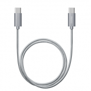 Дата-кабель USB Type-C – USB Type-C 120см (Deppa, серый)
