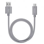 Дата-кабель USB А 3.0 - USB Type-C 120см (Deppa, серый)