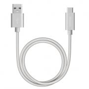 Дата-кабель USB А 3.0 - USB Type-C 120см (Deppa, серебристый)