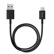 Дата-кабель USB A 3.0 – USB C Plug 120см (Deppa, черный)
