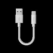 USB дата-кабель USB Type-C 15см (Deppa, серебристый)