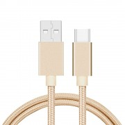 Кабель USB Type-C 60 см (золотой)