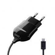 Сетевое зарядное устройство с microUSB портом 1А (Deppa, черный)