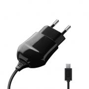 Сетевое зарядное устройство с miniUSB портом 1А (Deppa, черный)