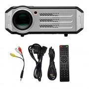 Мини проектор домашний легкий компактный LED Projector RD817 1080p AV VGA USB HDMI с пультом ДУ и Wi-Fi для дома и офиса домашний кинотеатр ручная регулировка фокуса мультиязычный (Черный)