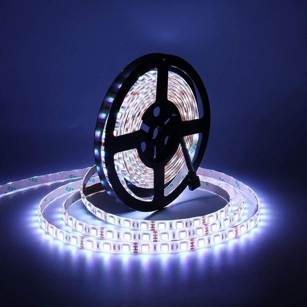 Светодиодная лента LED SMD 3528 5m с блоком питания пультом контроллером 16 цветов на выбор разные цвета влагостойкая для гостиной кухни спальни ванной прохожей  RGB IP65 12V  (Цветная)