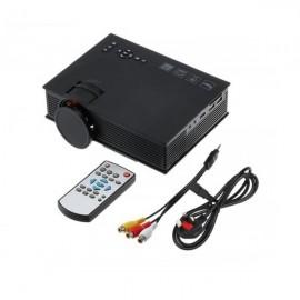 Проектор LED Unic UC46 UC68 мультимедийный с пультом ДУ беспроводное подключение для дома и офиса домашний кинотеатр подключение разных устройств совместимость Android и IOS Wi-Fi VGA USB MicroSD HDMI 1080p (Черный)