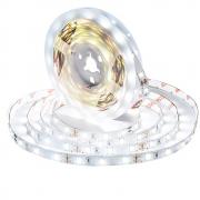 Светодиодная лента LED SMD 3528 5м с блоком питания для ванной кухни гостиной спальни прихожей водонепроницаемая IP65 300 светодиодов 12V (Белая)