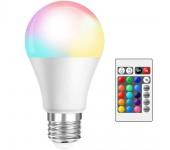Светодиодная лампочка RGB с пультом дистанционного управления 80х135 мм 16 цветов украшение для дома отелей клубов торговых центров E27