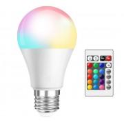Светодиодная лампочка RGB с пультом дистанционного управления 16 цветов украшение для дома отелей клубов торговых центров E27 80х135 мм
