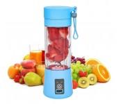 Бутылка блендер шейкер Daiweina Juicer Cup беспроводная компактная для овощей и фруктов для коктейлей смузи и пюре 380мл USB (Голубой)