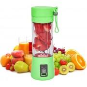 Бутылка блендер шейкер Daiweina Juicer Cup беспроводная компактная для овощей и фруктов для коктейлей смузи и пюре 380мл USB (Зеленый)