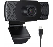 Веб-камера Q10 с микрофоном для офиса и дома потоковой трансляции 60Гц (Черная)
