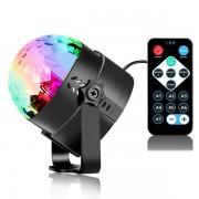 Светодиодный диско шар LED MXS-88 для отдыха дискотек дня рождения праздника 6 цветов крепление на стену с пультом ДУ подключение Bluetooth