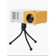 Мини LED проектор Unic YG-300E (Бело-оранжевый)