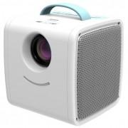 Мини LED проектор Q20 (Синий-белый)