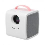 Мини LED проектор Q20 (Розовый-белый)