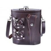 Набор фляга в сумке-чехле (Темно-фиолетовый)