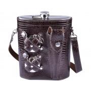 Набор фляга в сумке-чехле 1,4л (Черный)