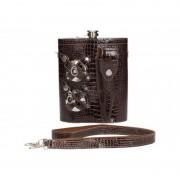 Набор фляга в сумке-чехле (Темно-коричневый)