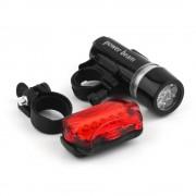 Велосипедный фонарь XY-108 (Черный-красный)