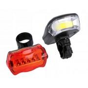 Велосипедный фонарь YYC-CD-508 (Черный-красный)