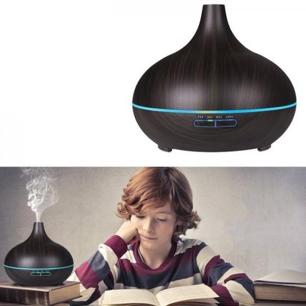 Увлажнитель аромадиффузор воздуха луковица для дома (Темное дерево)
