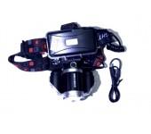 Налобный светодиодный фонарь MX CREE XML-T6 (Черный)