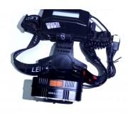 Налобный светодиодный фонарь MX CREE XML-T6, USB питание (Черный)