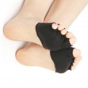 Носки гелевые на передний отдел стопы Moisturize Gel 1/2 RZ-631 (Черный)