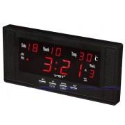 Электронные часы VST-729W-1 (Черный-красный)