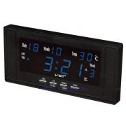 Электронные часы VST-729W-5 (Черный-синий)