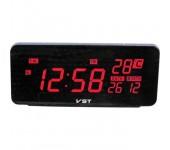 Электронные часы VST-763W-1 (Черный-красный)
