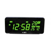 Электронные часы VST-763W-4 (Черный-ярко-зеленый)