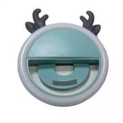 Селфи-лампа кольцо на телефон Олень (Голубой)