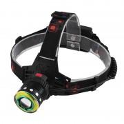 Налобный LED фонарь T105-T6 (Черный)