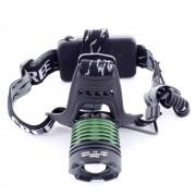 Налобный LED фонарь W09-T6 (Черный)