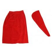 Парео женское для бани и сауны Главбаня TDK-099 (Красный)