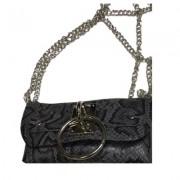 Женская сумка-клатч с кольцом (Темно-серый)