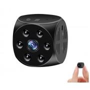 Мини камера для видеонаблюдения MD21, LED подсветка (Черный)