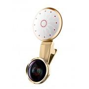 Светодиодная лампа с объективом для селфи L-965 3in1 (Золотистый)