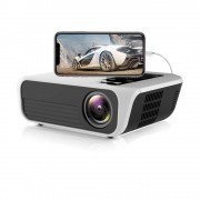 LED проектор TH80 c пультом ДУ чтение USB флешки для дома и офиса домашний кинотеатр установка на штатив и стенку поддержка 3D FullHD WIFI Bluetooth USBx2 HDMI-in VGA AUX AV (Белый)