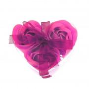 Розы из мыла 3 шт. в прозрачной коробке (Малиновый)