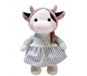 Мягкая игрушка Коровка в платье 24см (Серый)