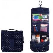 Дорожная сумка для туалетных принадлежностей (Синий в горошек)