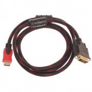 Кабель HDMI to DVI M/M 1,5м (Черный)