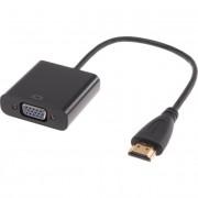Адаптер HDMI to VGA+AUX+microUSB (Черный)