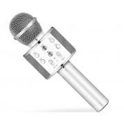 Караоке-микрофон Wster WS-858 (Серебристый)