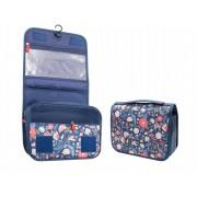 Дорожная сумка для туалетных принадлежностей (Сине-цветочный)